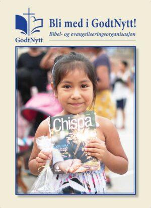 Innmeldingsbrosjyre fra GodtNytt Bibel og evangeliseringsorganisasjon